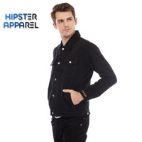 Original jaket jeans hipster warna hitam