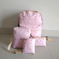 BRCCC Tas Ransel Backpack Sekolah Anak Perempuan Cewek 4 in 1