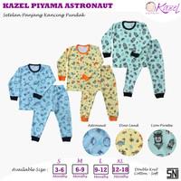Kazel - ASTRONAUT 3 Stel Baju Panjang Kancing Pundak + Celana Panjang