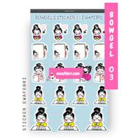 Sticker Bullet Journal Cute Bowgel Series 03 | Transparant
