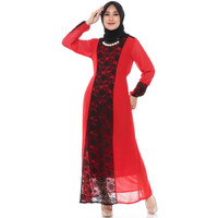 FAME Fashion Gamis 9910598 Merah