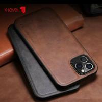 "Iphone 12 Pro Max 6.7"" New Xlevel Leather Case casing Original Black"