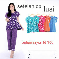One Set Batik / Setelan Celana Panjang / Babydoll Batik Pekalongan