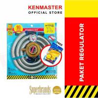 KENMASTER Paket Regulator Meter + Selang Gas Protec FREE 1 Lap Chamois