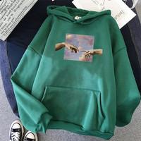 Hands Graphic sweater hoodie wanita