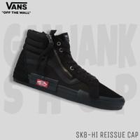 Sepatu Sneakers Pria VANS Sk8-Hi Reissue Cap Black 100% Original BNIB