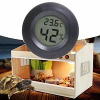 Hygrometer Plus Thermometer Digital Bulat Kandang Hewan Reptil