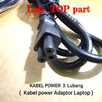 KABEL POWER Adaptor Charger Laptop 3 lubang 120 cm