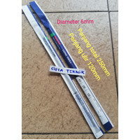Mata bor Nachi 6mm x Panjang 250mm - Long drill Nachi 6.0mm x 250mm