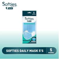 Masker Softies 3 Ply Isi 5 pcs Earloop
