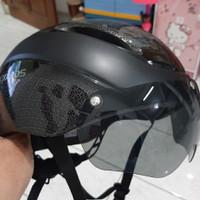 Ready Langsung Kirim! ROCKBROS helm sepeda dengan kacamata goggles MTB