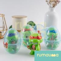 RUMAUMA 12 PCS Mainan Ninja Egg TMNT 1 Box Mutant Turtles Anak Hadiah