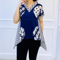Atasan blouse batik terbaru wanita - batik modern (C270VATA)