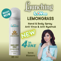 Lavme Hand & Body Spray Anti Virus & Nyamuk - Lemongrass 85ml