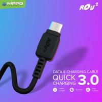 Hippo Rou 2 Kabel data dan Charging Micro USB Quick Charge 3.0
