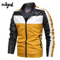 Jaket Motor Kulit Racing Jaket Kulit Semi Jaket Pria Touring Orginal - Kuning, L