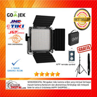 PAKET Lampu Video Studio Vlog GVM GVM-560AS Bi-Color LED Panel LED ORI