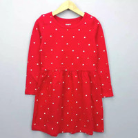 Dress anak branded Carter's red love12 T
