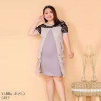 Vanna Dress Jumbo - Dress Batik Wanita Terusan Wanita