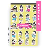 Sticker Bullet Journal Cute Bowgel Series 01 | Transparant