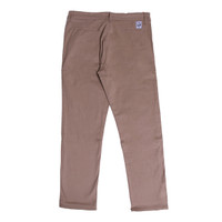 "HEYHO CHINO - ""SOFT BROWN PACTH ON BACH LIST"" - BROWN CHINO"