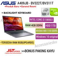 Laptop Asus A409JB-CORE i3 1005G1-4GB-1TB-NVDIA MX 110-WINDOWS 10 - RAM 4GB Standrt
