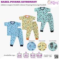Kazel - ASTRONAUT 3 Stel Baju Pendek Kancing Pundak + Celana Panjang