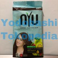 NYU Creme Hair Colour Natural Brown (NYU Pewarna Rambut Semir Rambut)