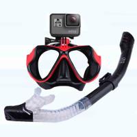 Kacamata Selam Scuba Diving Snorkel Tempered Glass with Gopro Mount
