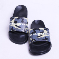 "SANDAL HEYHO - ""ARMY STAY CHILL"" - BLACK SANDALS"