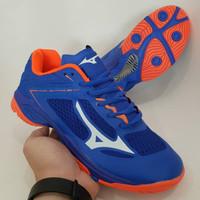 sepatu voly mizuno wave lightning blue orange