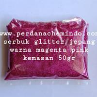 glitter / bubuk gliter / serbuk glitter powder magenta pink 50 GR JPN