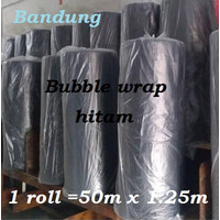 Bubble wrap Hitam 1 roll plastik bable warp Bandung buble black murah