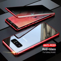 Case Magnet magnetic Anti Baret double glass Samsung Note 8 - Merah