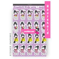Sticker Bullet Journal Cute Household Series | Matt