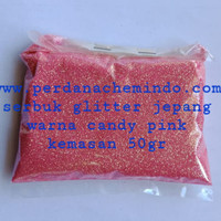 glitter / bubuk gliter / serbuk glitter powder candy pink 50 GR JPN