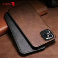 Iphone 12 Pro 6.1 New X-Level Leather Case-Casing Original-Brown
