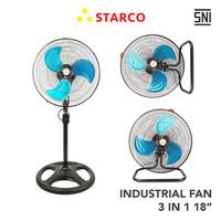 Starco Industrial Fan 3 in 1 18 Inci IF-318 - Cokelat