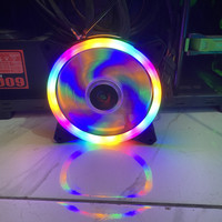 XBT Thunder RGB Auto Fan Casing 12CM Double RING LED - Fan Case XB-112