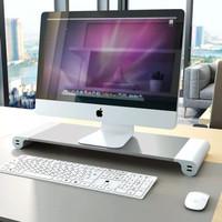 Meja Monitor Stand Desktop Dudukan Komputer Laptop Aluminium