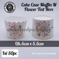 Alas kertas muffin/paper cake case bulat medium (M) flower text here