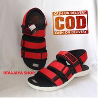 Sandal Kenzi Type Tuff Terbaru/Fashion Sandal Pria & Wanita/Merah