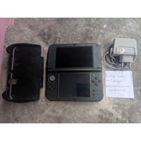 New Nintendo 3DS LL XL Metallic Black Layar IPS Rare CFW 32GB Grip