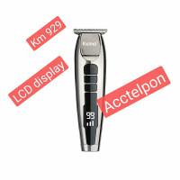 Kemei km-929 LCD wireless hair clipper alat cukur rambut kemei