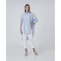 This is april - Augusta Striped Blouse - Blue - 174804