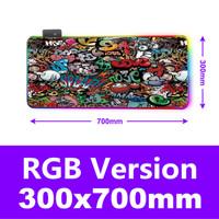 Gaming Mouse Pad Large XL Desk Mat RGB Version 700 x 300 mm