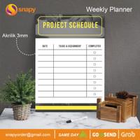 Weekly Planner Akrilik | Wall Planner Dinding | Schedule Board