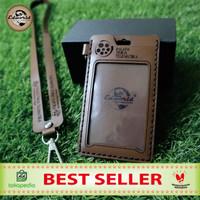 ID CARD HOLDER KULIT COSTUM NAMA & INTANSI/PERUSAHAAN 2 slot card