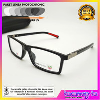 Kacamata Minus Pria Photochromic TH-Urban Kacamata Baca Pria Square