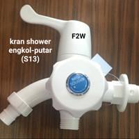 KRAN SHOWER PVC ENGKOL SOLIGEN KERAN AIR CABANG PLASTIK KRAN TEMBOK